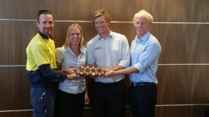 Reed Construction Queensland (RCQ) accepting their award