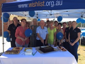 Wishlist volunteers and supporters celebrate the Wishlist Coffee House's 2nd birthday.