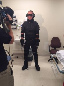 The GERT suit in action.