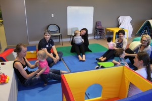The 'tiny tots' class at the Child Development Service