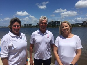 Adaptive Paddling's Gayle Mayers, End ED's Mark Forbes with Wishlist CEO Lisa Rowe