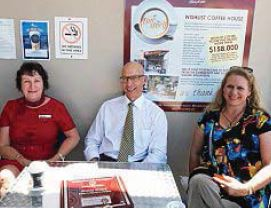 Local business contributors Kerry Plate, Cos Schuh and Therese Starr-Thomas.