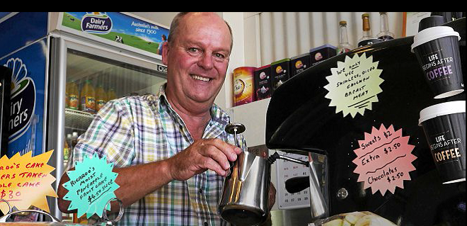 Richard Ward at the Wishlist Coffee House. Pic by Jacob Carson, The Gympie Times