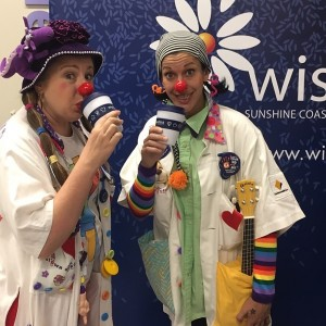 Clown Doctors with WishlistConnect cups
