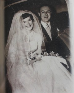 Cathe and Alan George on their wedding day.